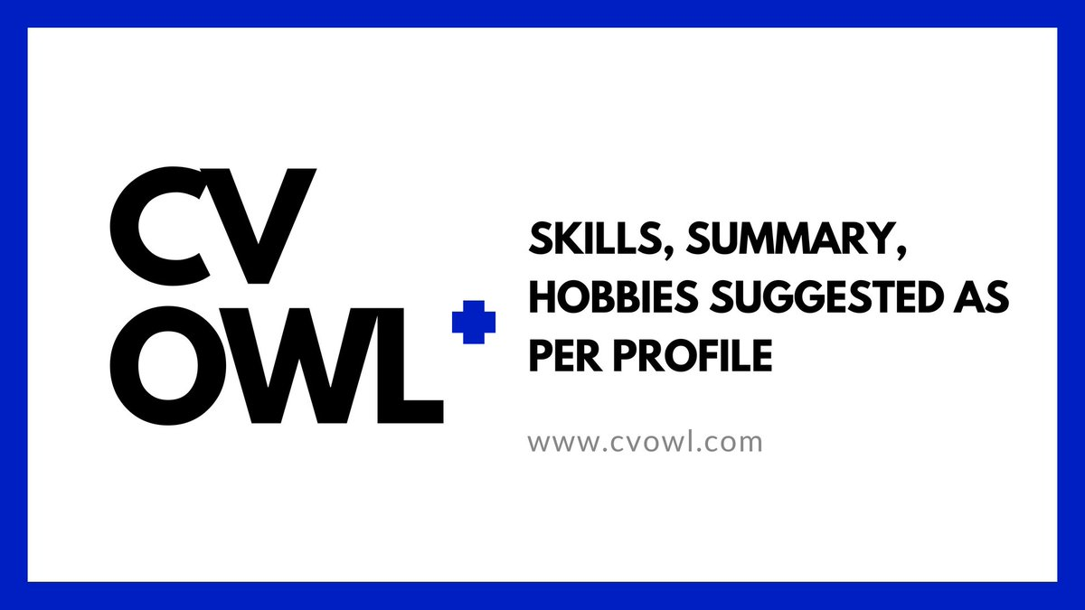 Best CV Maker CV Owl | Features of CV Owl